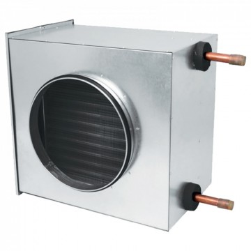 VARMEKASETT FOR VENTILASJO ø 200 mm  1,3-7,1 KW